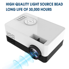 New HD J15 Portable Mini Projector 1920*1080P Support AV USB SD Card USB Mini Home Theater Projector Portable Beamer PK J9