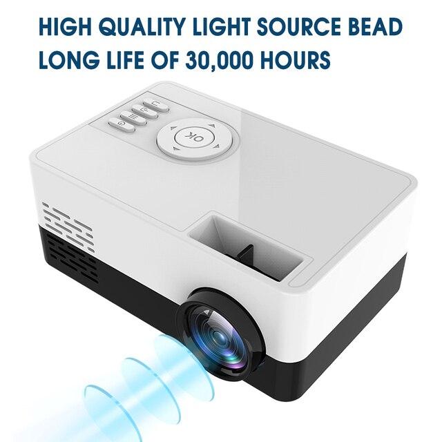 Nouveau HD J15 Mini projecteur Portable 1920*1080P Support AV USB carte SD USB Mini Home cinéma projecteur Portable projecteur PK J9