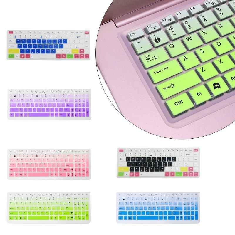 Cubierta de teclado película Protector de piel portátil de silicona protección para Asus K50 accesorio de ordenador portátil
