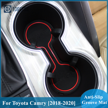 Anti-Slip Mat For Toyota Camry 2018 2019 2020 SE XSL XSE XV70 70 Daihatsu Altis Gate Slot Coaster Anti-Dirty Door Groove Mat image