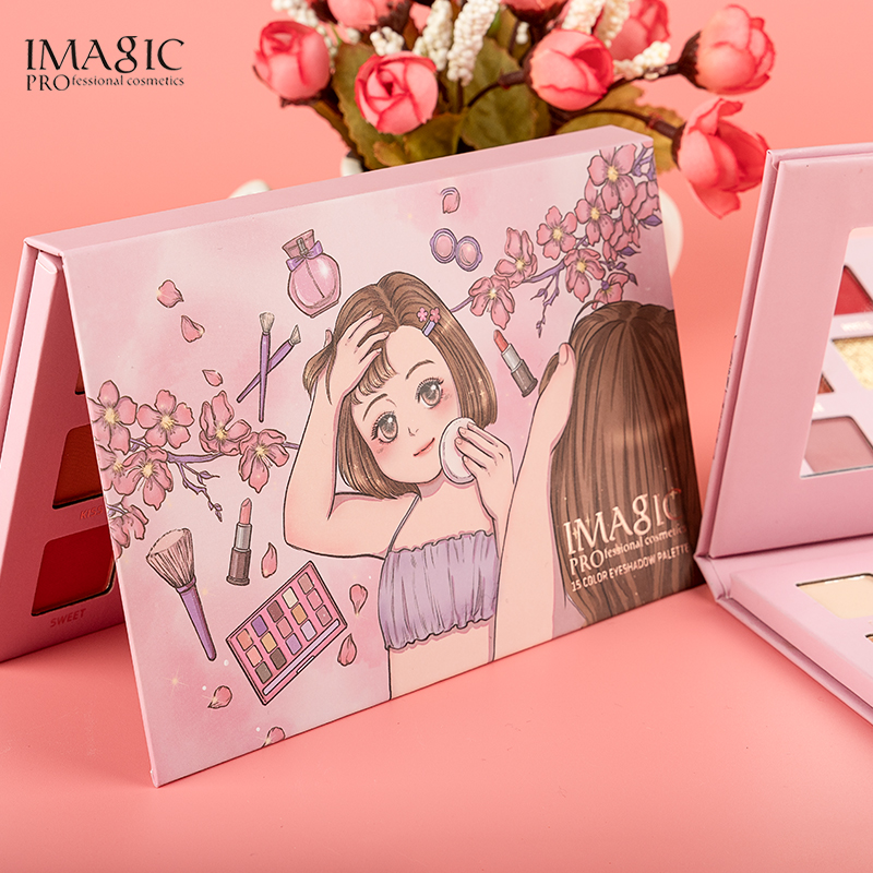 IMAGIC New Arrival Eye Shadow Palette Beauty Glazed Pigmented Glimmer Magnetic Colorful Professional Makeup Palette GREEN in Eye Shadow from Beauty Health