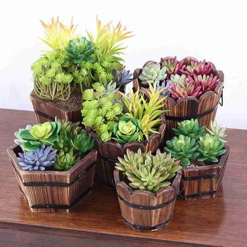 retro round wooden flower pot whiskey barrel planter pots wooden large garden patio outdoor flower plant