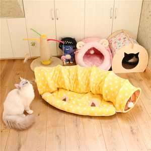 Image 2 - Dual Use Pet Cat Toy&Cat Bed Foldable Cat Tunnel House For Cat Small Dogs Cats Pet Products Lounger For Dogs Cat Training Toy