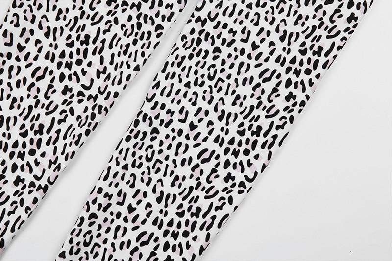 Leopard Women's Clothing Yoga Fitness Leggings Sport Suit