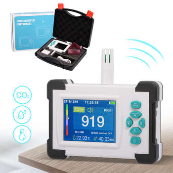 цена на FOSHIO Carbon Dioxide Detector Meter Portable CO2 Monitor Sensor Air Quality Monitor Public Industrial Agriculture Gas Air Meter