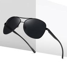 Óculos de sol alumínio e magnésio, novo óculos de sol masculino polarizado e espelhado, acessório para direção 2020