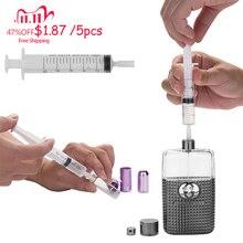 MUB   5 pcs/lot seringue en plastique distributeur de parfum outils 5ml/10ml recharge cosmétique pour bouteille rechargeable distribution Quantitative