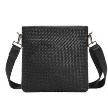 2021 Fashion Design Woven Shoulder Bags Men Luxury PU Leather Crossbody Bag For Men Laptop Bag Mens Messenger Bag Flap Bags Male