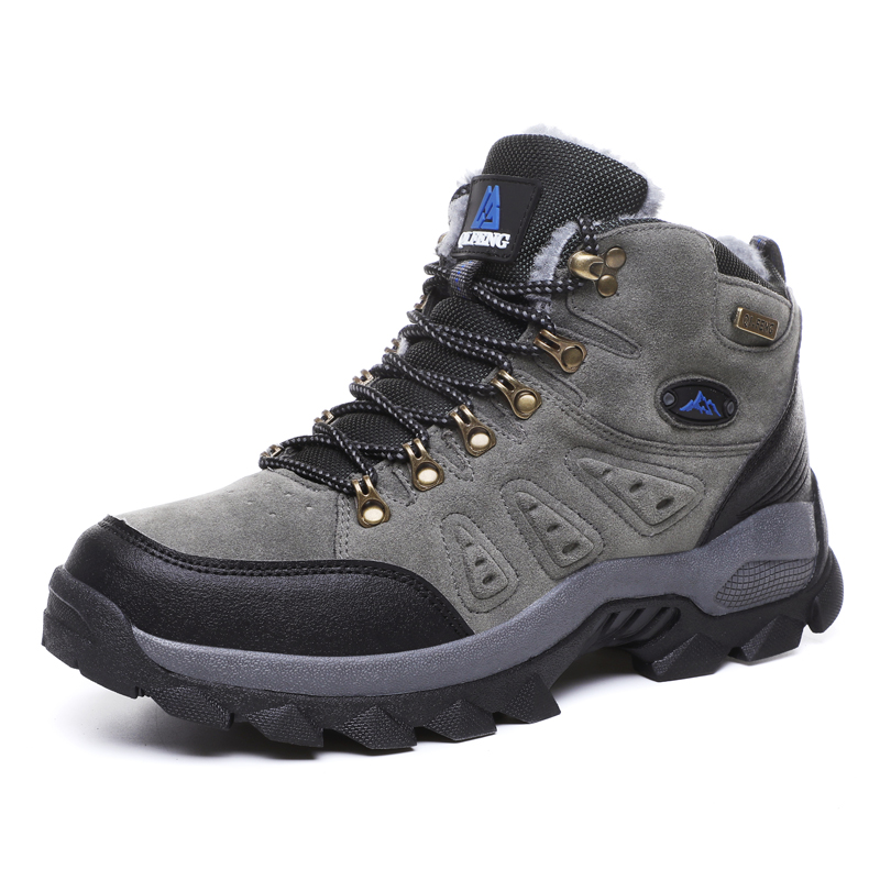 Winter Mountain Hiking Shoes for Men Women Waterproof Outdoor Sneakers with Warm Plush Men Boots Walking Trekking Hunting Shoes