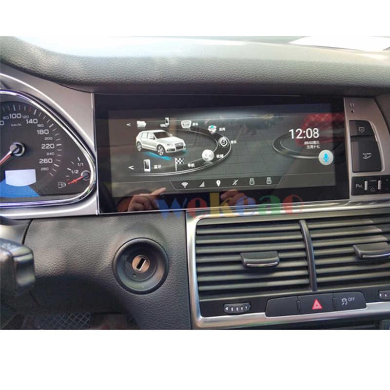 Wekeao ワイドスクリーン 10.25 ''アンドロイド 9.0 カーラジオ Automotivo アウディ Q7 Android の自動 GPS ナビゲーションカー Dvd プレーヤー 2007-2015 4 グラム