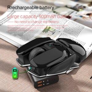 Image 2 - SeenDa перезаряжаемая беспроводная мышь бесшумный щелчок дизайн USB беспроводная мышь для ноутбука ноутбук Настольный 1600 точек/дюйм регулируемый