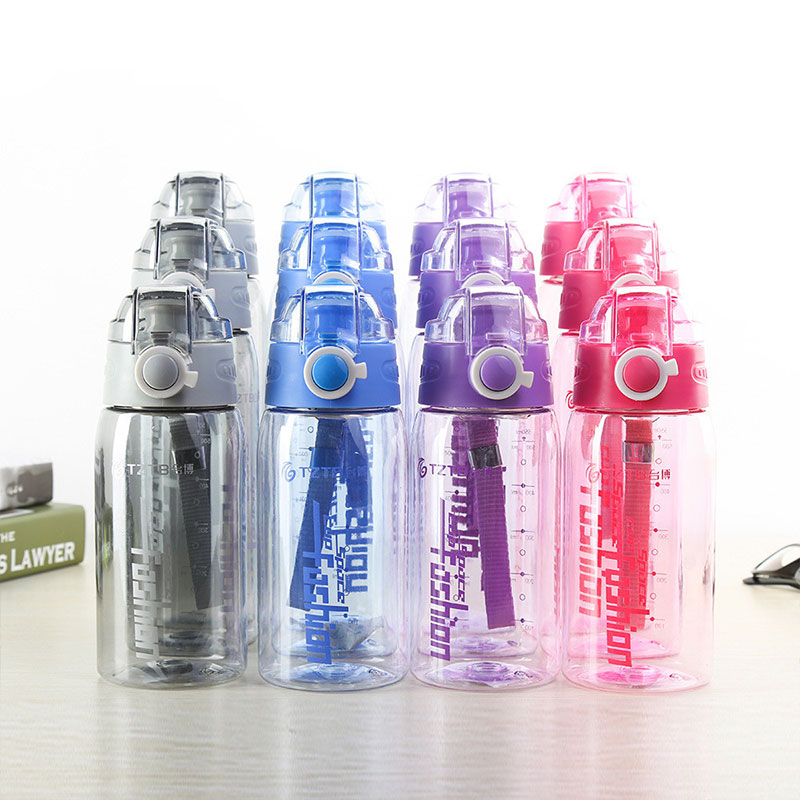 550/750/900ML Sports Water Bottles Outdoor Travel Portable Leakproof Plastic Water Bottle Fitness School Yoga My Bottle BPA Free