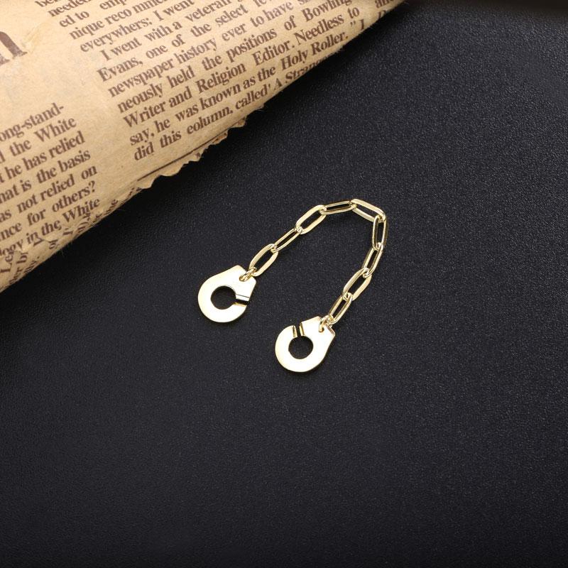Moonmory 925 en argent Sterling Menottes anneau blanc trombone chaîne mode rencontres bijoux Couple anneaux cadeaux de noël Menottes 3