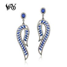 VEYO Hollow out Crystal Rhinestone Drop Earrings for Women Symmetric design New Fashion Jewelry stylish rhinestone hollow out elastic bracelet for women