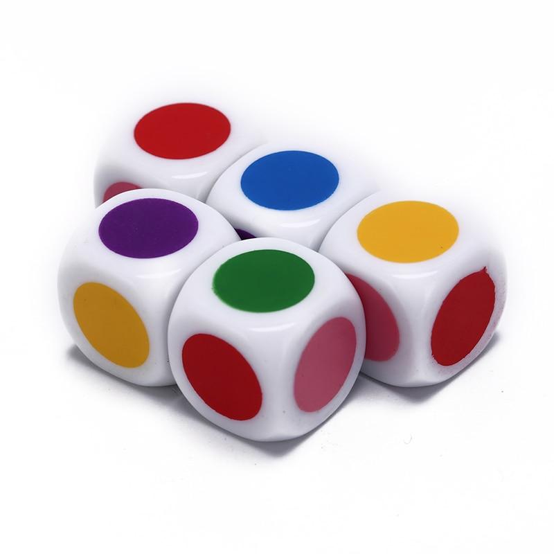 ¡Caliente! Juego de mesa seis caras Color blanco familia partido divertido dados juegos educativos juguetes