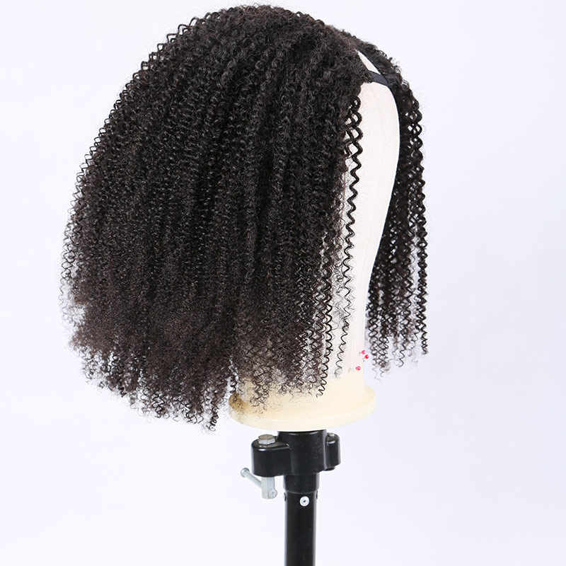 Curly U Part Wig Human Hair Wigs Brazilian Remy 150 180 Density Lace Wig Glueless Wig Pre Plucked Full End For Black Women