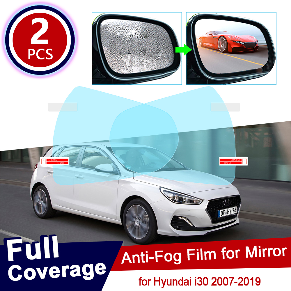 for Hyundai <font><b>i30</b></font> 30 2007~2019 Full Cover Anti Fog Film Rearview Mirror Rainproof Accessories Elantra GT Touring 2011 2015 <font><b>2017</b></font> image