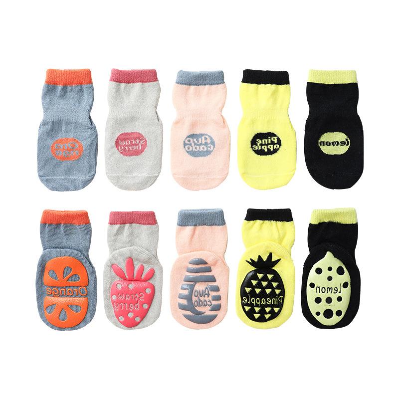Baby Socks Newborn Floor Socks Children\'s Fruit Dispensing Non-slip Toddler Socks Boys and Girls Socks