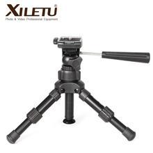 XILETU XB 2 panoramiczny przenośny Mini statyw stołowy do aparatu cyfrowego z trójwymiarową głowica statywu