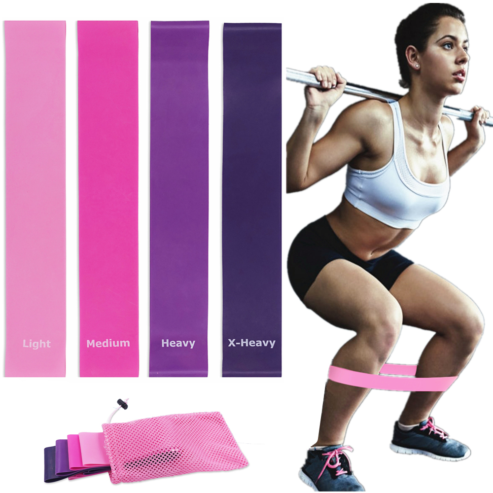 Resistance Bands Elastic Fitness Gum With Carry Bag For Gym Crossfit Yoga Stretch Workout Expander Sports Mini Rubber Band Set