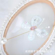 Вышивка с бабочкой, грудная игла, Европейский Набор для вышивания, простая трехмерная вышивка, лента, Набор для вышивания, рукоделие