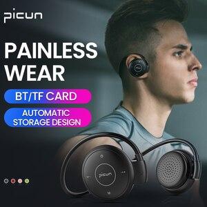 Image 5 - Picun T6 אוזן וו אלחוטי Bluetooth אוזניות ספורט עמיד למים אוזניות MP3 הפחתת רעש אוזניות תמיכת TF כרטיס