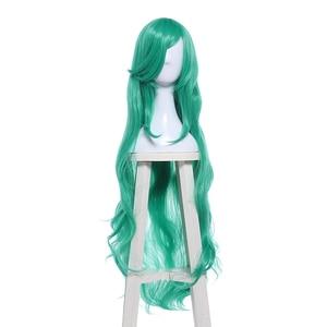 "Image 3 - L דוא""ל פאה LoL כוכב שומרים Soraka קוספליי פאות משחק ארוך ירוק גל פאת קוספליי ליל כל הקדושים עמיד בחום סינטטי שיער"