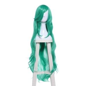 Image 3 - L email парик LoL Star Guardians Soraka Косплей парики игра Длинная зеленая волна косплей парик Хэллоуин термостойкие синтетические волосы