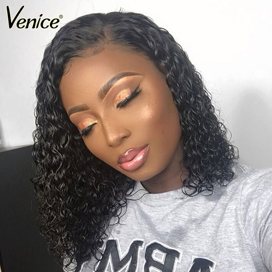 Venice Hair 13x6 Lace Front Human Hair Wigs For Black Women Lace Frontal Wig Pre Plucked Hairline With Baby Hair Short Remy Hair