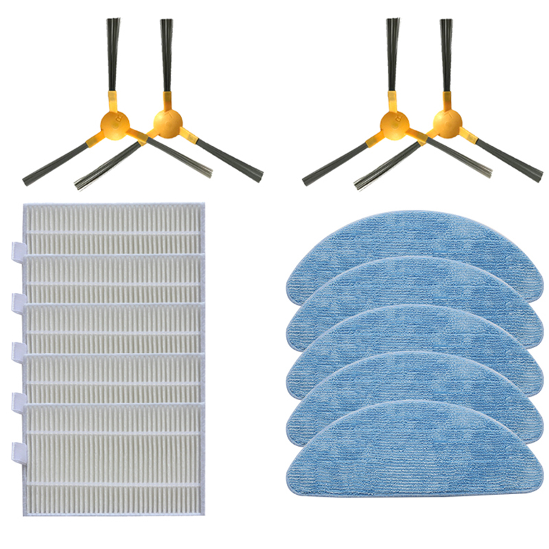 Robot Vacuum Cleaner Side Brush Hepa Filter Mops For Liectroux C30B Smart Robot Vacuum Cleaner Spare Parts Replacement