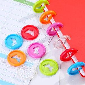 Image 3 - Anneau de reliure papillon en plastique, anneau de reliure rond en forme de champignon, avec boucle de disque, fournitures de reliure, bricolage, 12 pièces, 26MM