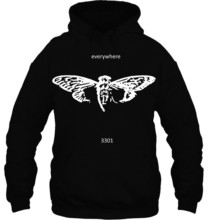Fashion Cool Funny Cicada 3301 everywhere white Customized Printed Streetwear men women Hoodies Sweatshirts(China)