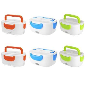110 V/220 V Lunch Box Contenitore di Alimento Portatile Riscaldamento Elettrico Più Caldo Cibo Riscaldatore di Riso Contenitore di Set per apparecchiare per la Casa