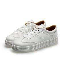 Женские кожаные кроссовки повседневные удобные белые туфли на