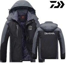 DAIWA одежда для рыбалки зима осень зима водонепроницаемые теплые куртки для рыбалки мужские флисовые толстые уличные рубашки для рыбалки L-8XL