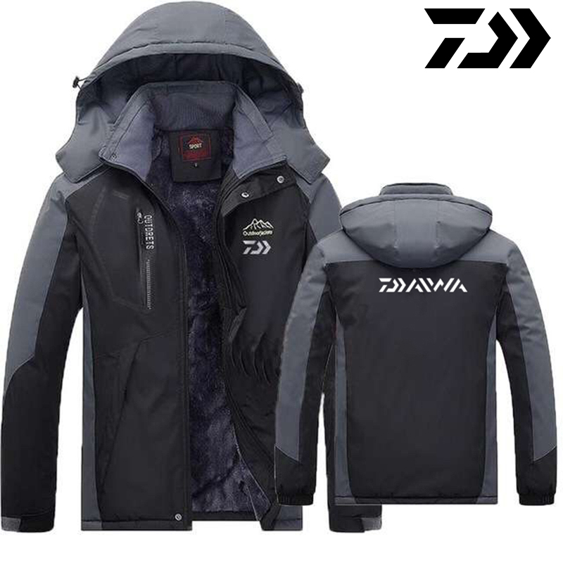 2020 daiwa roupas de pesca inverno outono inverno a prova dwaterproof agua quente jaquetas de pesca