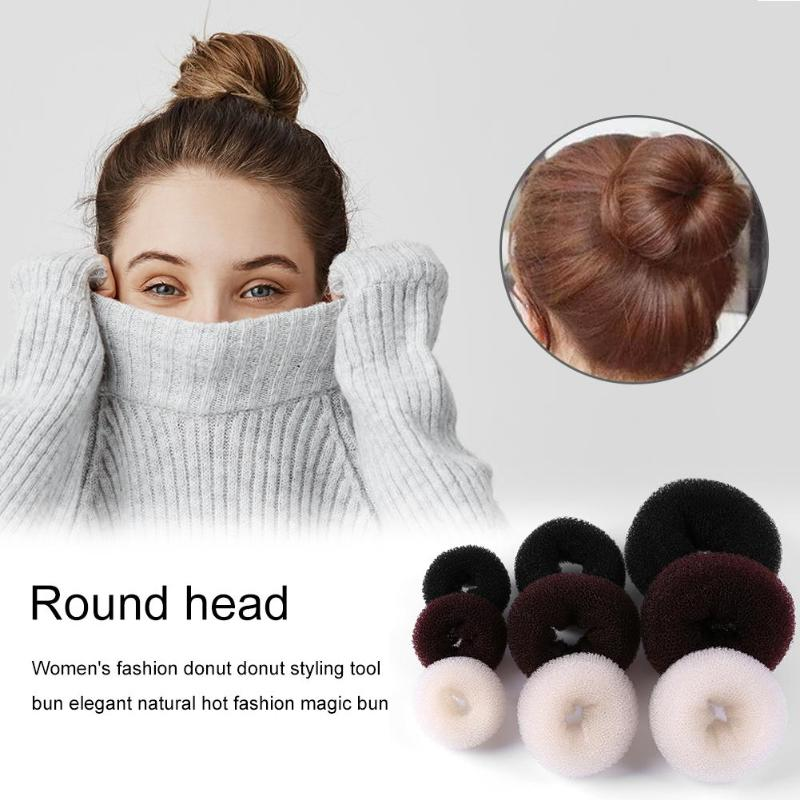Fashion Hair Bun Maker Donut Foam Sponge Easy Big Ring Hair Styling Tools Hairstyle Hair Accessories For Girls Women Lady
