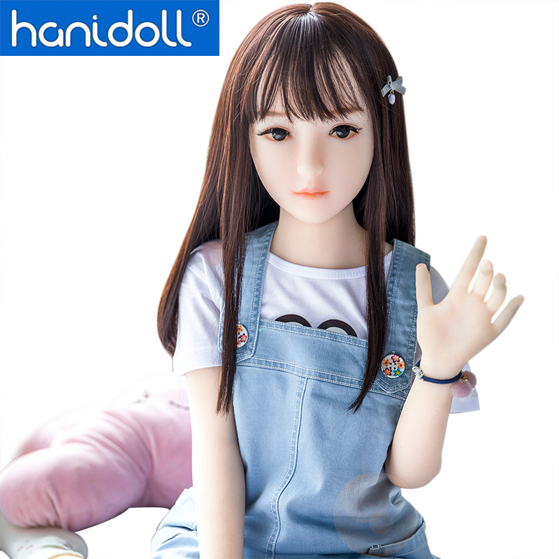 Hanidoll 100cm Sex Doll Mini Silicone Sex Dolls TPE Love Doll Life Size Adult Real Flat Chest Sex Doll Realistic Lifelike Toys
