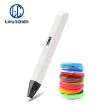 Lihuachen Bolígrafo de impresión 3D RP800A para niños, juguete de pintura, Material de filamento ABS / PLA aplicable