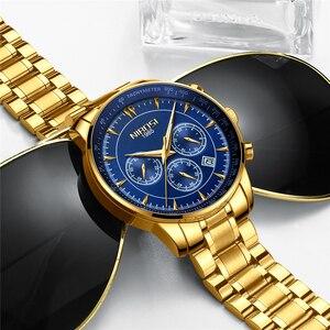 Image 2 - Relogio Masculino NIBOSI marque nouvelle mode hommes montres Top marque de luxe étanche Quartz montre hommes grand cadran affaires hommes montre