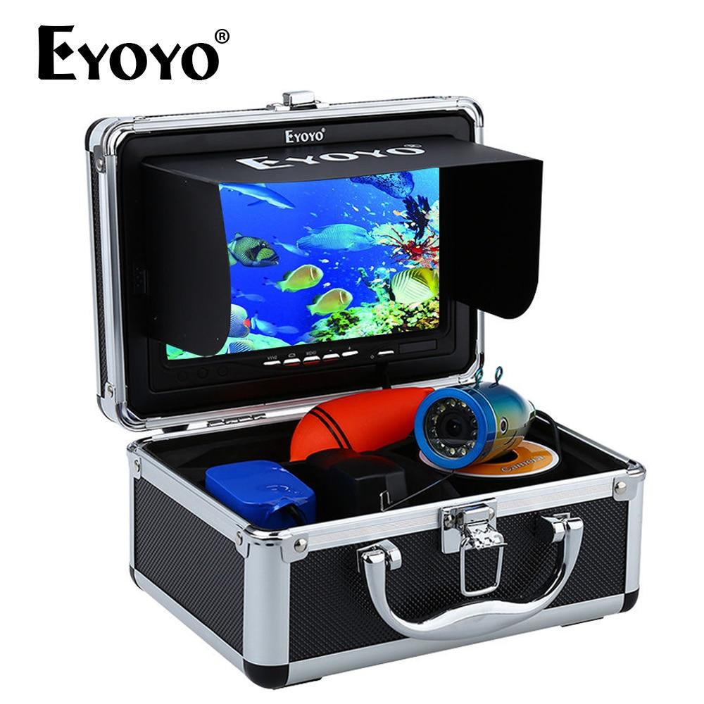 Eyoyo EF07B 7 1000TVL détecteur de poisson sous-marin pêche sur glace caméra vidéo sous-marine caméra infrarouge lampe Fishfinder pêche sur glace