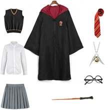 Костюм Гарри для взрослых и детей, одежда Гермиона, Волшебная школьная форма, Когтевран, Слизерин, халат, плащ, костюм на Хэллоуин