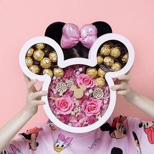1 шт./лот, свадебные вечерние коробки с Микки Маусом, Подарочная коробка с Минни Маус, подарки на день рождения для детей