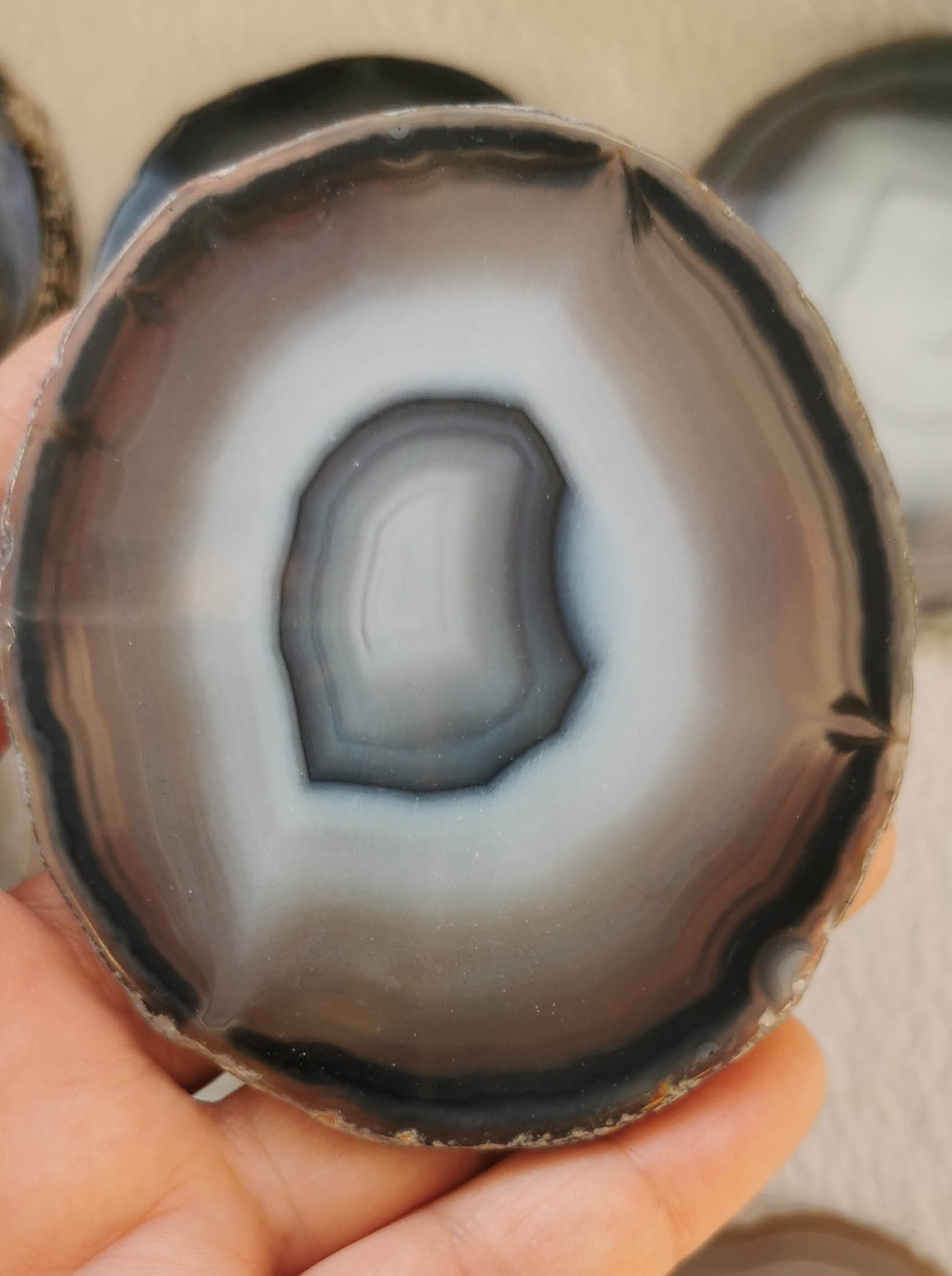 5pcs 50-90mm Onyx Agate  Coaster Geode Wedding Crystals Placecards  Agate Slices Wholesale Slabs Freefrom Coin Stone