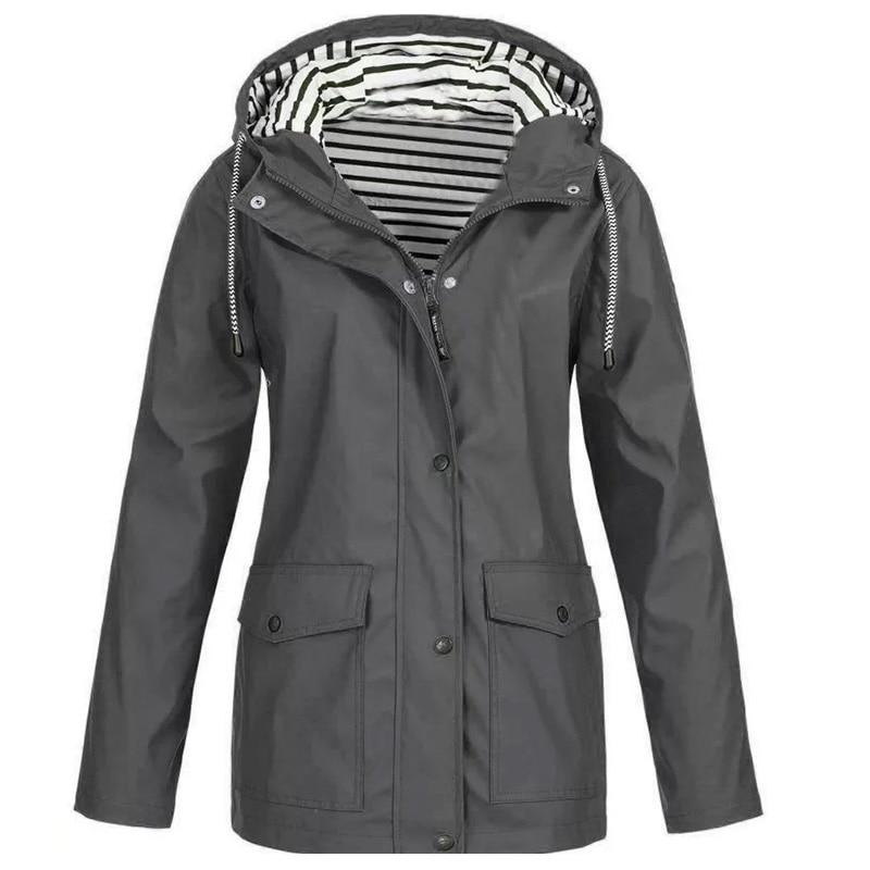 Zimska nepremočljiva ženska jakna s kapuco