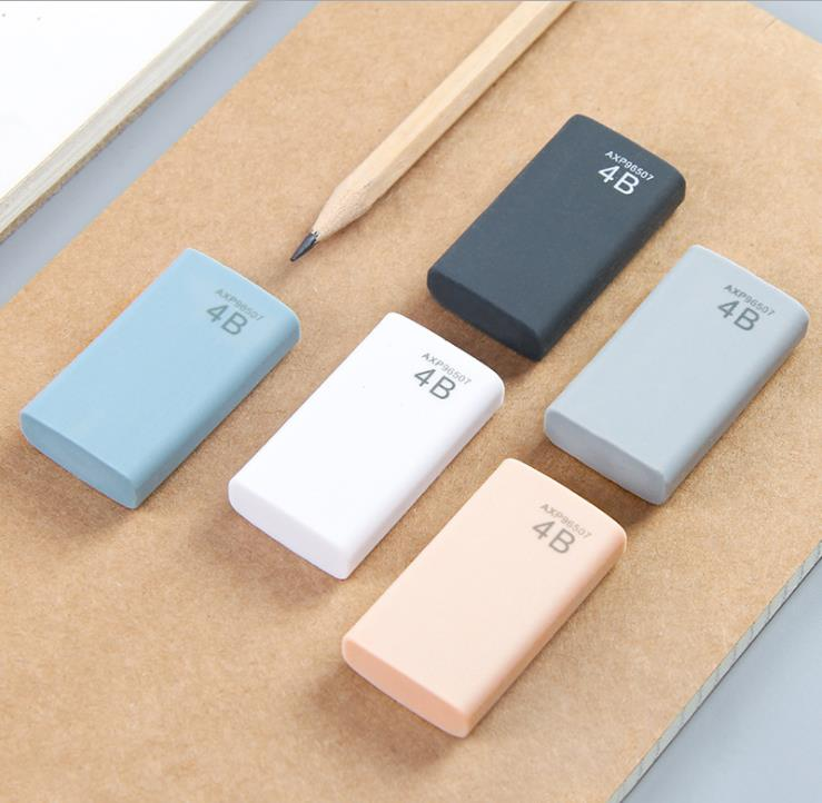 5Pcs/Lot High Quality 4b Eraser Pencil Eraser Student Stationery School Office Supplies