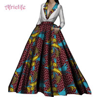Top Selection Fashion Wedding Dresses Long Sleeve Deep V African Clothing Pleated High Waist Shown Slim Skirt Women Dresses