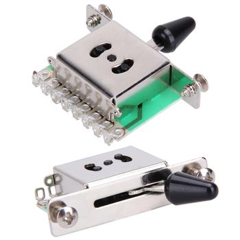 5 sposób selektor Pickup gitara elektryczna przełączniki przełącznik przełącznik dźwigni czarny muzyczne instrumenty strunowe części do gitary i akcesoria tanie i dobre opinie CN (pochodzenie)