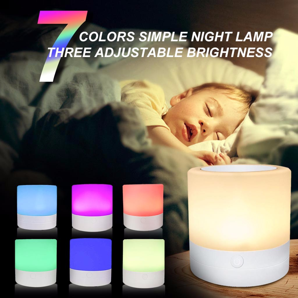 Silicone Night Light Touch Sensor Control Usb Powered Led Cute Pig Lamp For Children Baby Kids Bedside Bedroom Gift#es