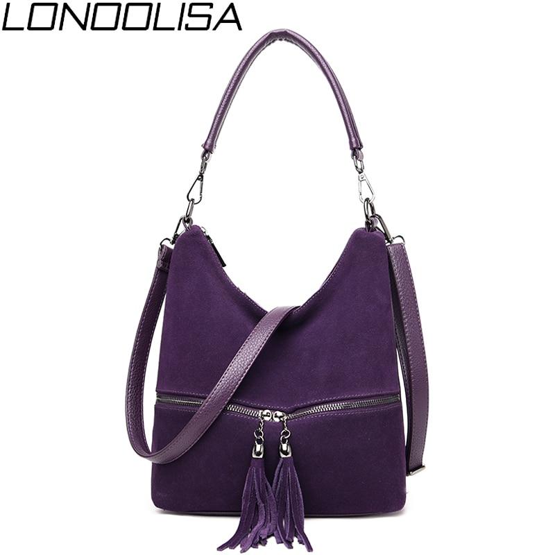 Ladies Handbags Crossbody-Bags Tassel Suede Leather Women High-Quality New-Fashion